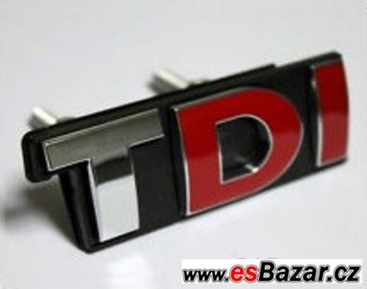 TDI logo do masky Audi Škoda VW Seat