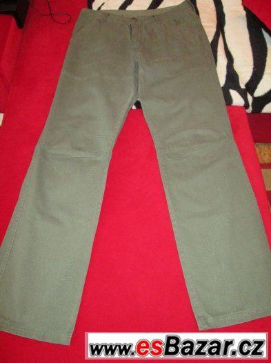 Pánské kalhoty khaki zelená