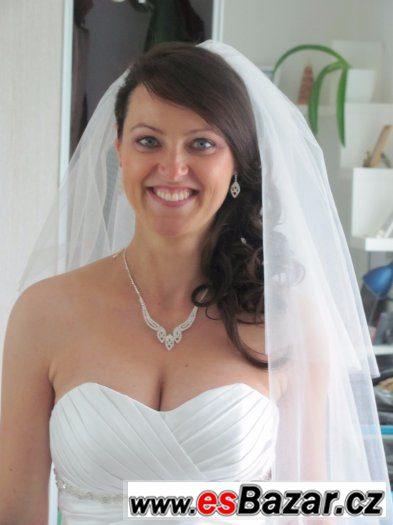 6416e4c1283f Nabízím svatební šaty.Jsou na šněrování tak padnou každé nevěstě.