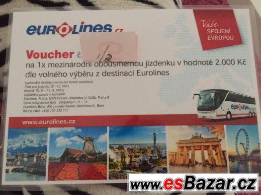 Voucher 2000,- Kč na jízdenku od společnosti Eurolines