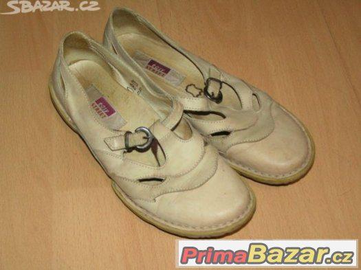 Dívčí/dámské kožené střevíce, balerínky, boty vel. 36.
