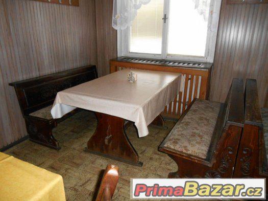 Stůl 150x80 a 2 lavice masiv