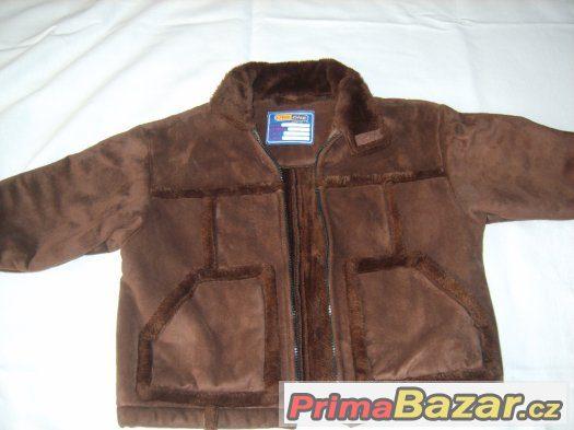 Dětská bunda s kožíškem vel.104