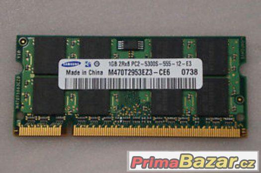 SODIMM Samsung 1GB/DDR2-1gb 2rx8 pc2-5300s-555-12-e3-prodám