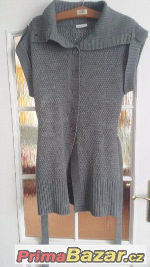 Šedý svetr - vesta L Yessica
