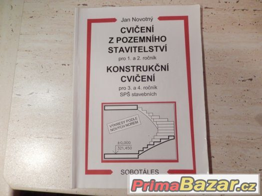 Prodám učebnici Cvičení z pozemního stavitelství pro 1. a 2.