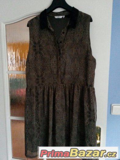 Tygrované šaty 44 New Look