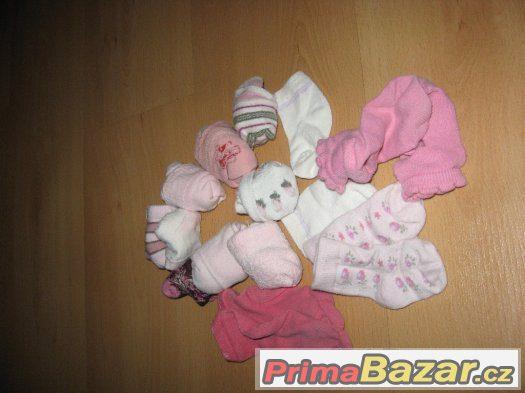 14x ponožky  od 0-6 měsíců