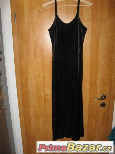 černé semišové šaty S