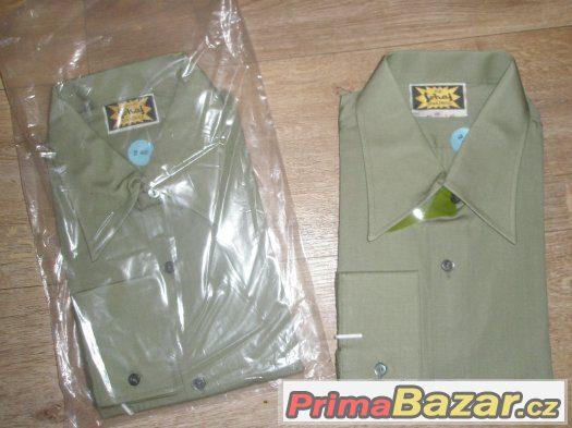 dvě nové košile Šohaj, r. 1982