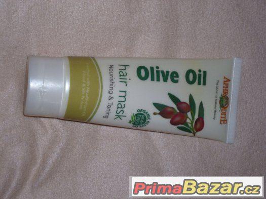 Vlasová maska s olivovým olejem