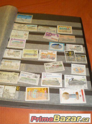 poštovní známky -  album -  různé