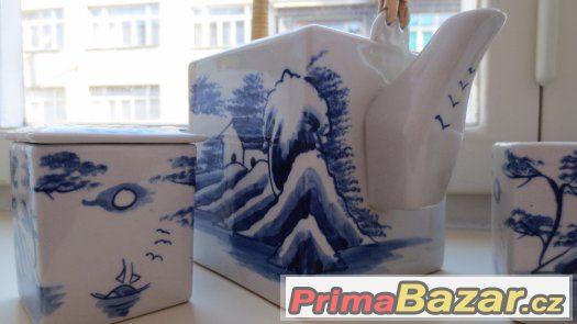 Prodám malovanou čajovou soupravu