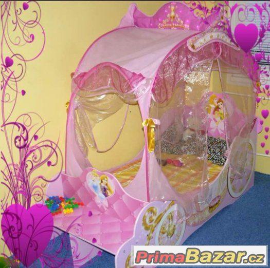 Disney postel kočár 140x70