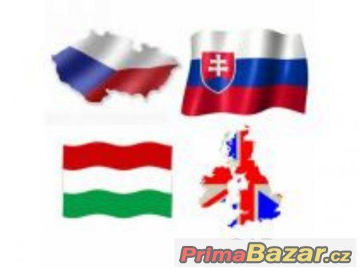 Překlady a přepisy textů Angličtina - Čeština/Slovenština
