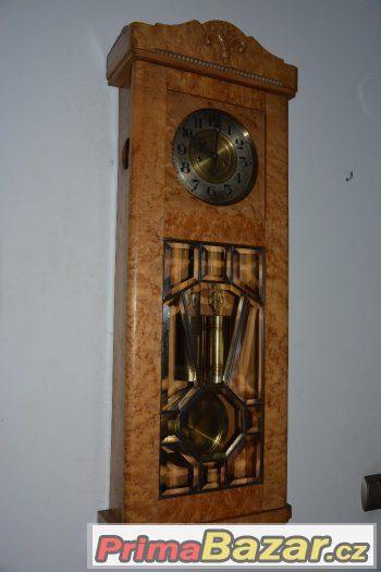 Starožitné 2-závažové hodiny Gustav Becker r1900-světlé