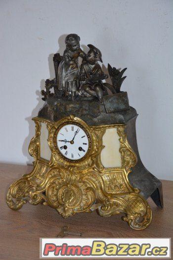 0fe0674db starozitne-figuralni-krbove-hodiny-medaille-de-bronze-r1830
