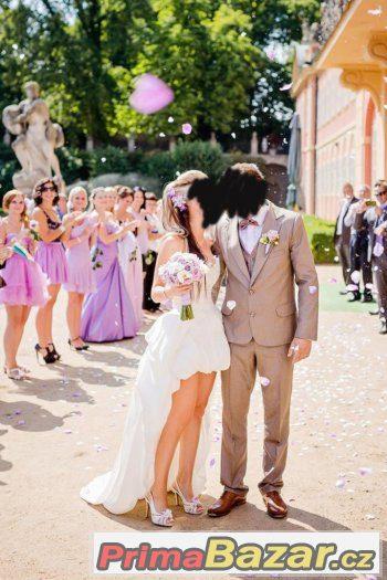 34-38 svatební saty vpredu kratke vzadu dlouhe - 36.  03.03. 2016  06ca4764b27