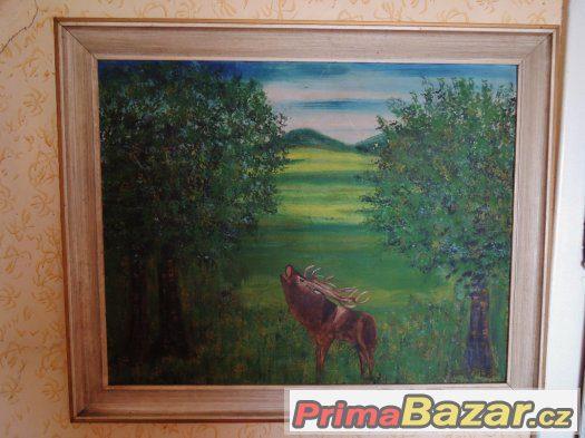 Obraz s jelenem