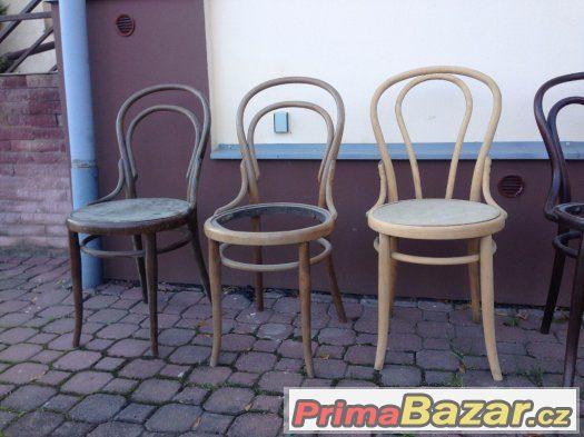 Židle Thonet, Mundus, Fischel, na renovaci - Různé modely