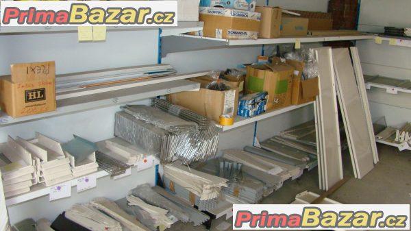 Komponenty regálového a drátěného programu k zařízení prodejen, obchodů