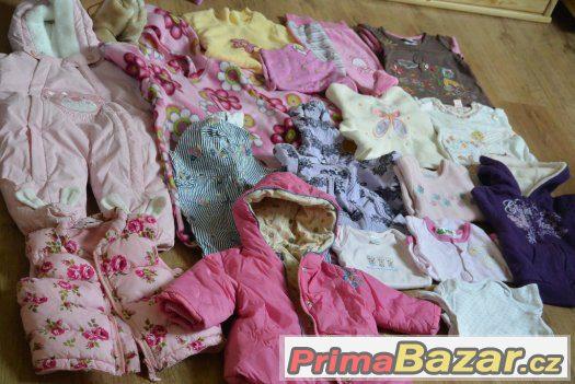 Balík oblečení na holčičku 0-9 měs.