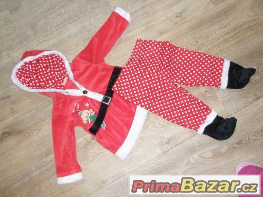 vánoční obleček 12-18 měsíců