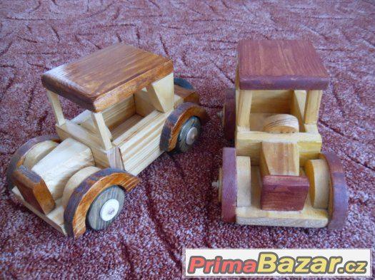 Originální dřevěné autíčka