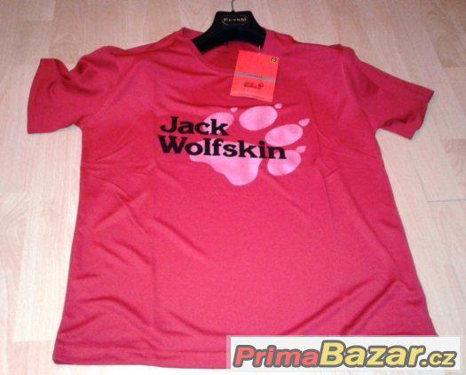 funkční tričko Jack Wolfskin L a XL červené doprava zdarma