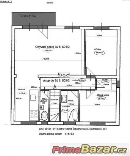 Židlochovice 3+1 v I.NP bytového domu v OV-bez provize