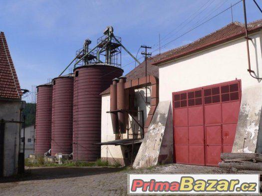 Rosice u Brna obilná sila 1200 tun čistička obilí