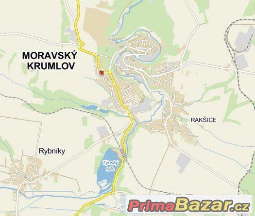 Moravský Krumlov 706 m2 v chatové oblasti u Týnského rybníka