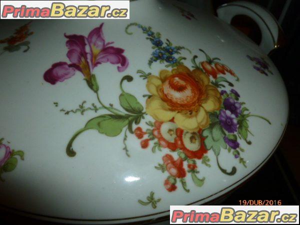 Nádherná starožitná polévková mísa značená