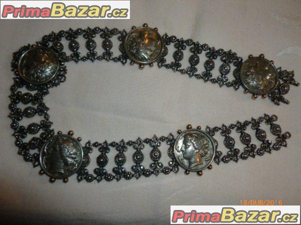 AG raritní starožitný secesní náhrdelník