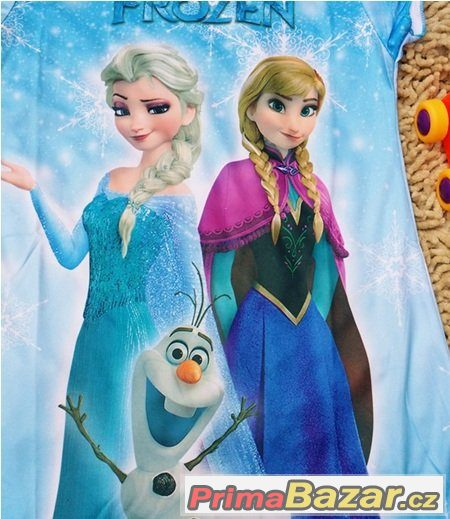 661e58ff2ae0 KRÁSNÉ ŠATY ANNA A ELSA + OLAF( FROZEN )-modré
