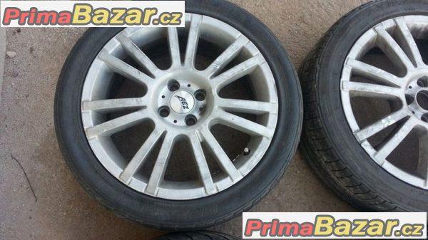 AEZ 4x100 7jx17 et38 pneu bridgestone 225/45 r17 91w
