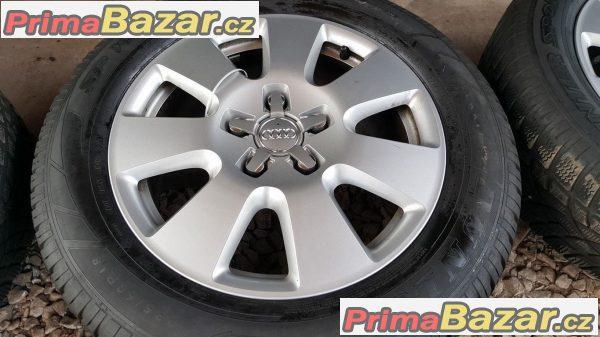 Audi Q7 4L0601025AF  60%vzorek dot1214 5x130 7.5jx18 et53  zet pneu Dunlop SP Sport Winter 3D 235/60 r18