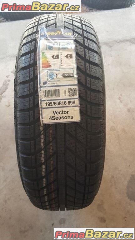 1xnova, nepoužita pneu Goodyear Vector 4Seasons 195/60 r16 89H