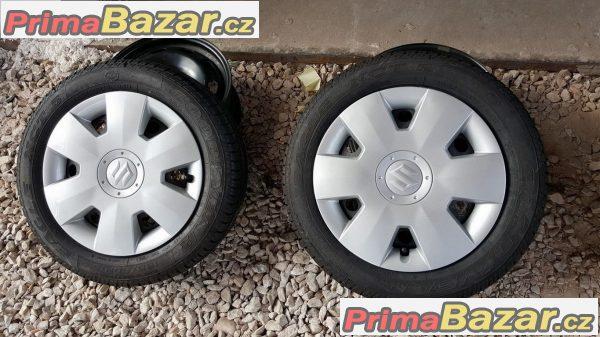 Nová sada  plechové disky  Suzuki 4x100 5.5jx15 et45 n