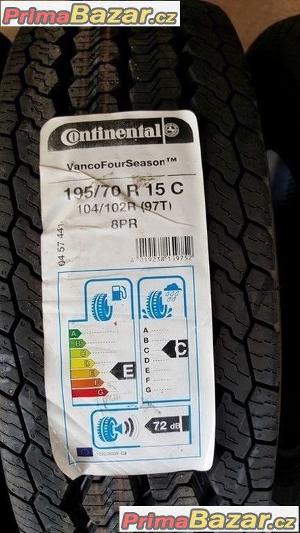 1xnova , nepoužita sada pneu Continental VancoFourSeason 195/70 r15C 104/102R 97