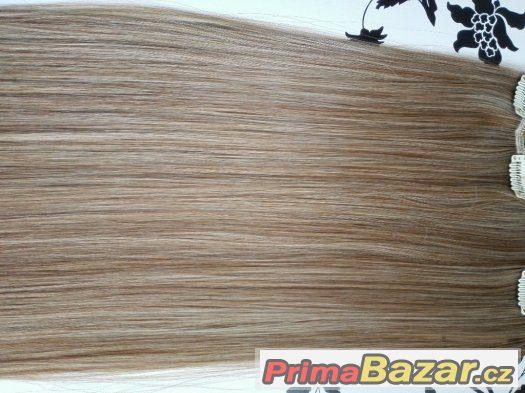 Clip in vlasy nové levné - melír 613/27