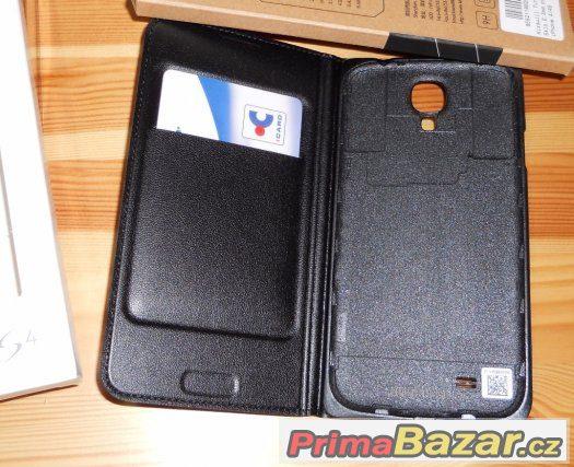 Samsung S4 i9505 Flip pouzdro Knížka ČERNÉ