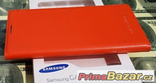 Samsung Note3 N9005 - Flip Pouzdro Oranžové
