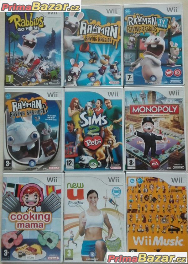 Nintendo Wii hry 9ks