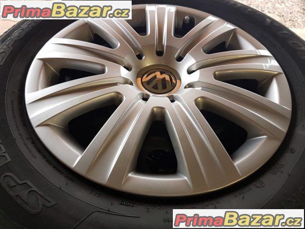 zánovní sada VW Plechove disky s poklicema 7N0601027E 5x112 6.5jx16