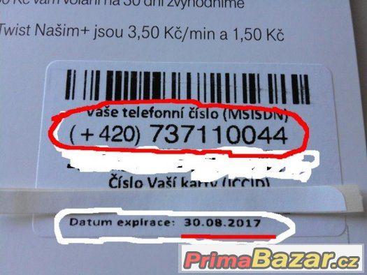 SIM karta 737 11 00 44, NOVÁ, NEAKTIVOVANÁ
