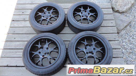 4x alu kola Borbet R16 5x120 + 4x letní pneu 205/50/R16