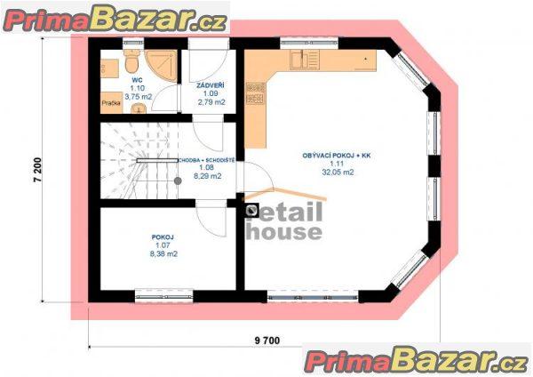 Rodinný dům Pegas Elegant , 5+kk, 106 m2