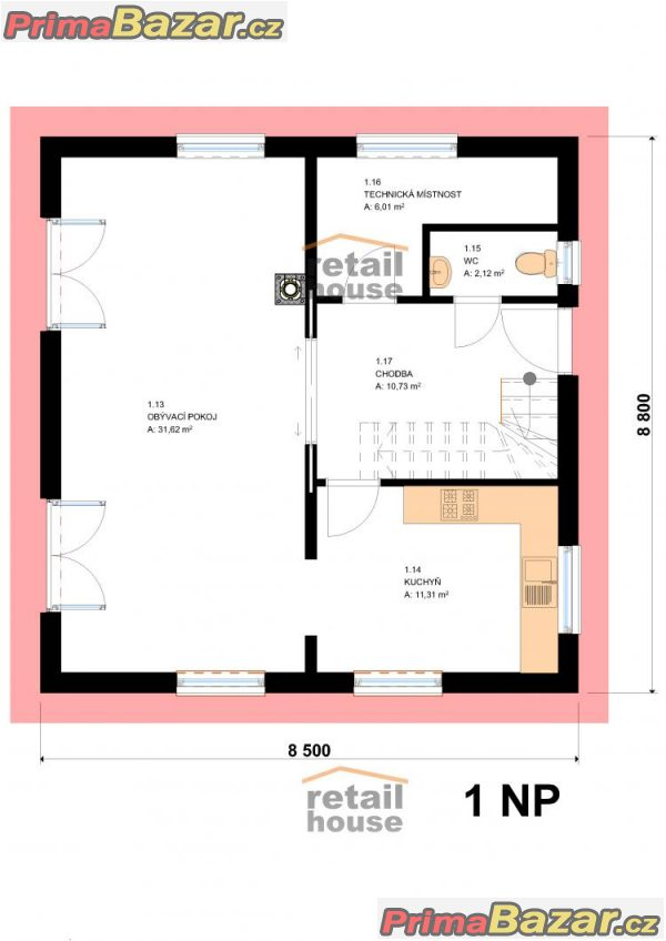 Rodinný dům Florida 4+kk, 123 m2