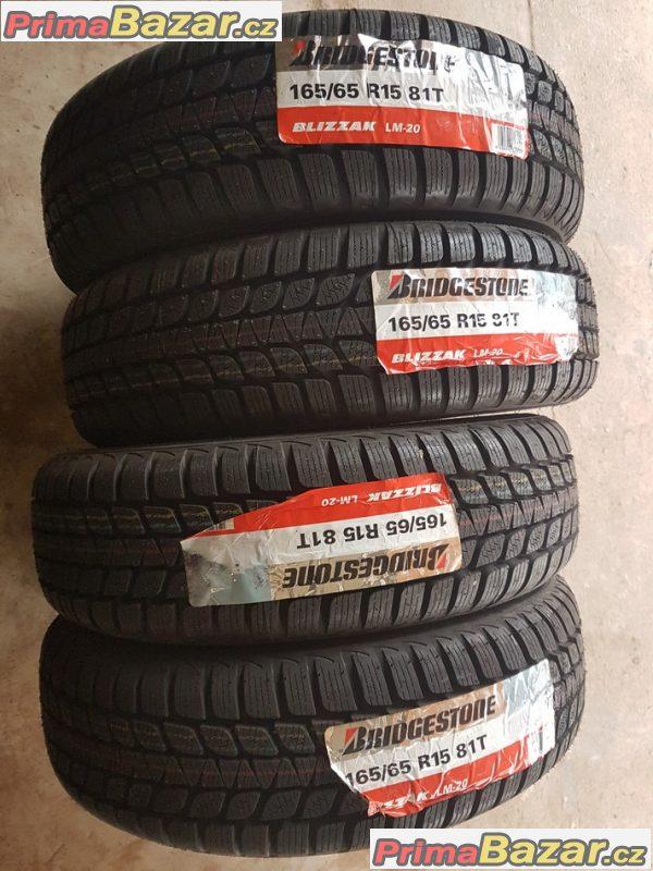 4xnove pneu Bridgestone blizzak lm20 165/65 r15 81t11